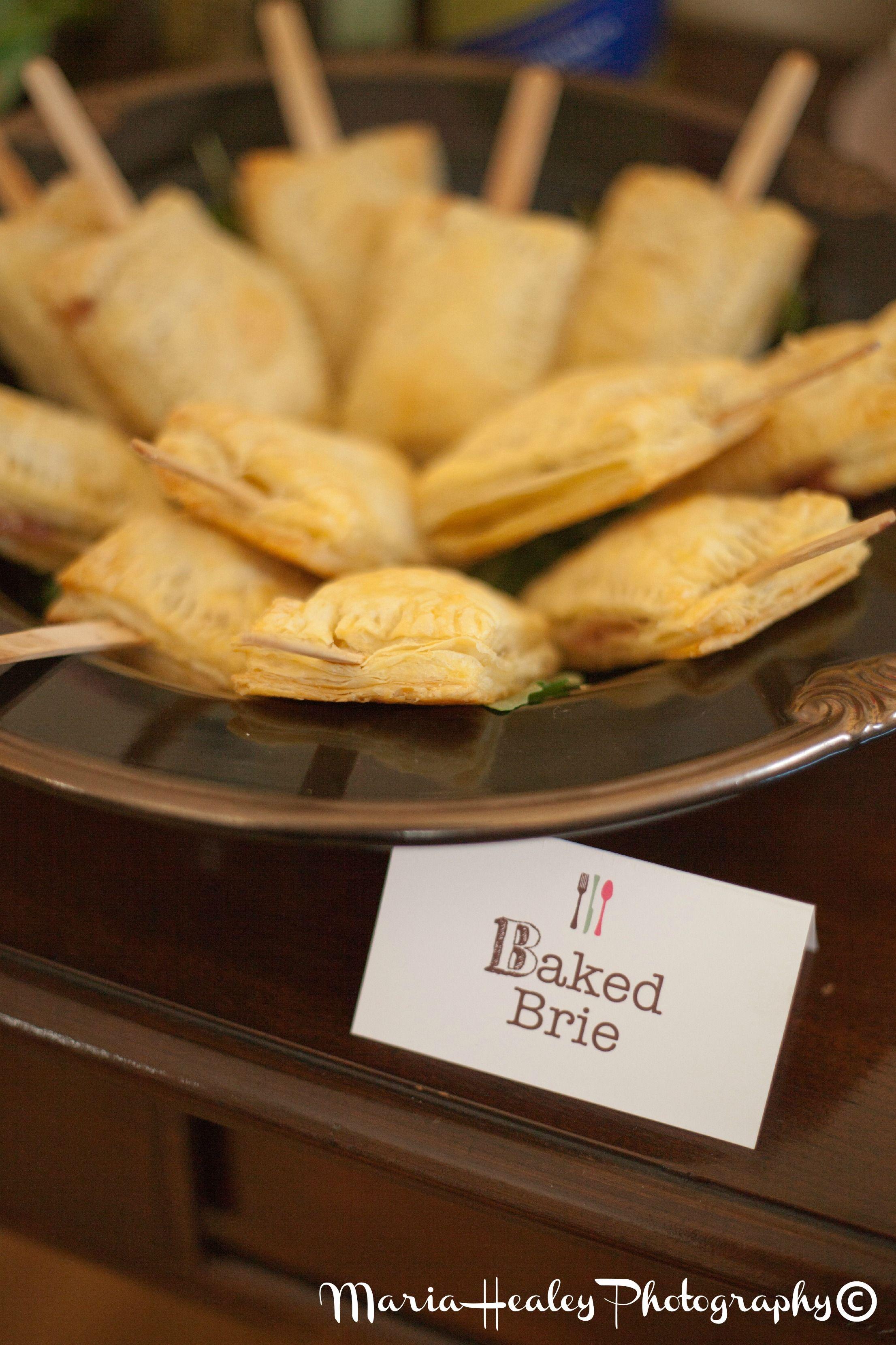 Food & Wine Bridal Shower, baked brie. #bridalshower Mariahealey.com http://www.dandpcelebrations.com