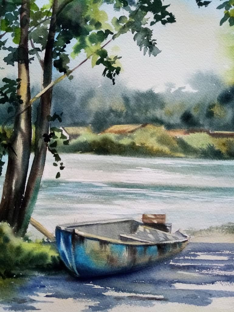 Original Art Watercolor Painting, measuring: 97W x 142H x 0D cm, by: Natalia Myskina (United States). Styles: Fine Art. Subject: Boat. Keywords: Aquarellepainting, Aquarelle, Boat, Watercolorpainting, Watercolor. This Watercolor Painting is one of a kind and once sold will no longer be available to purchase. Buy art at Saatchi Art.