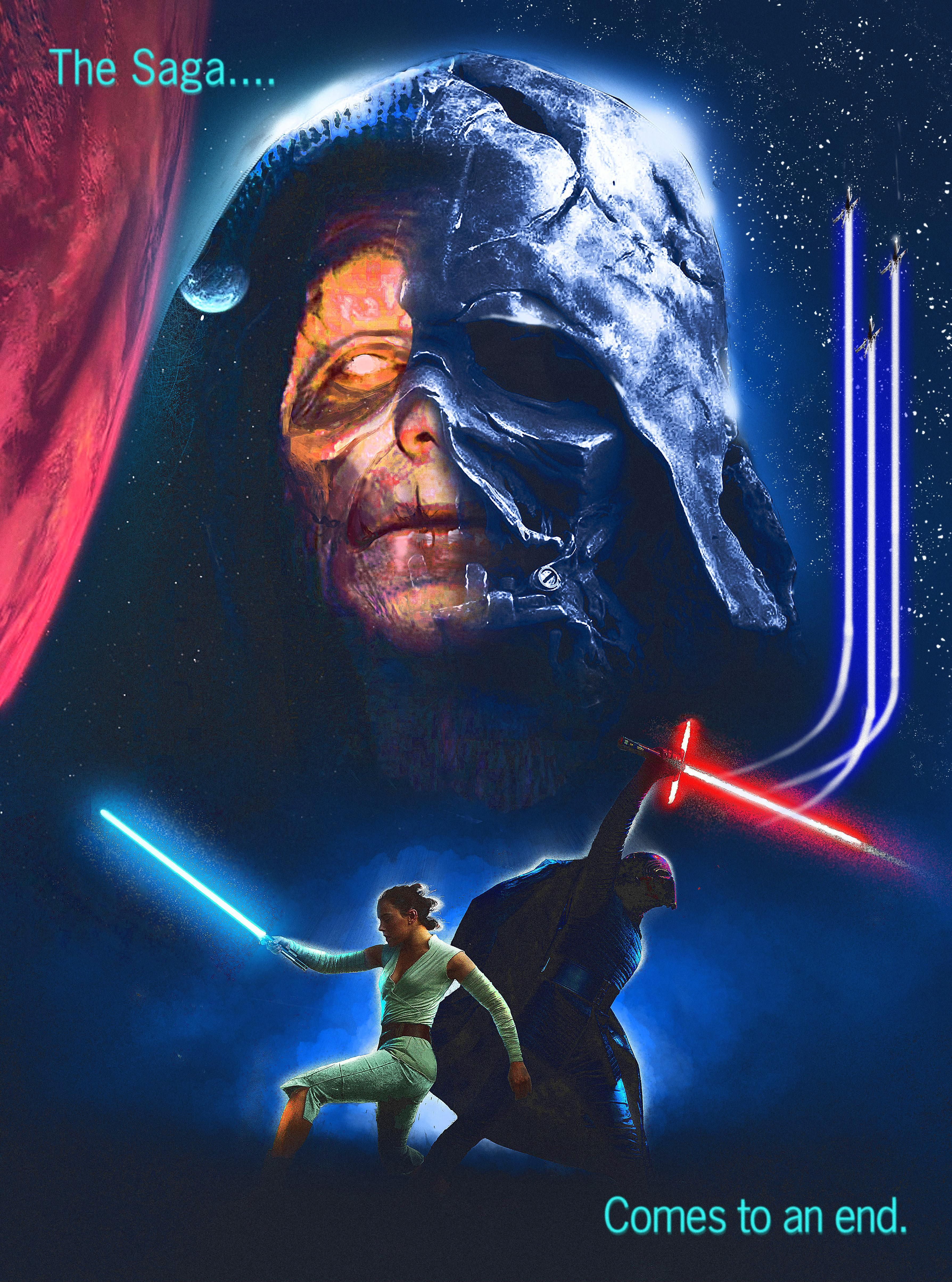 My 80 S Inspired Rise Of Skywalker Poster Starwarsspeculation Star Wars Pictures Star Wars Movies Posters Star Wars History