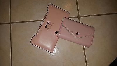 pale pink wallet & wristlet