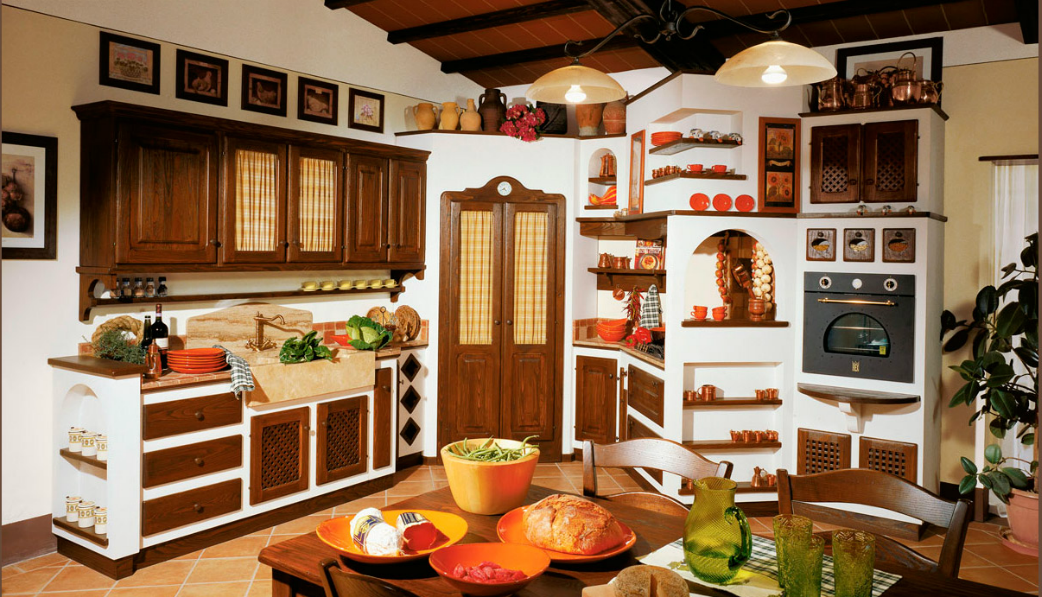 CUCINA RUSTICA CON MENSOLE - Arredamento Shabby | Kitchen | Pinterest