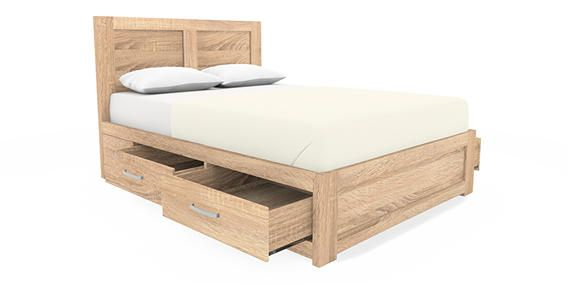 Buy Cuba Oak Double Bed Wood effect Light Brown from the Next UK ...