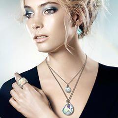 Swarovski Crystal 949740 Galet Light Azore Blue Pierced Earrings Over 60gbp 30gbp Gifts Earings Piercings Light Azore Swarovski Crystals