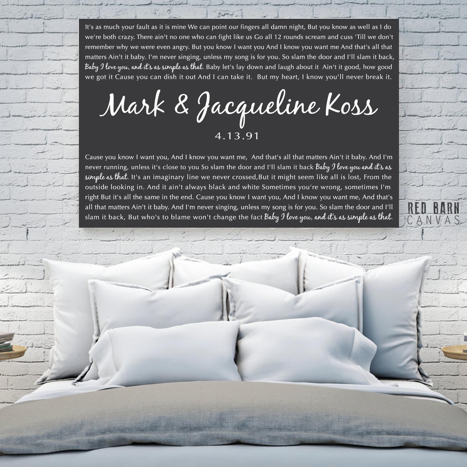 47++ Wedding song lyrics on canvas information