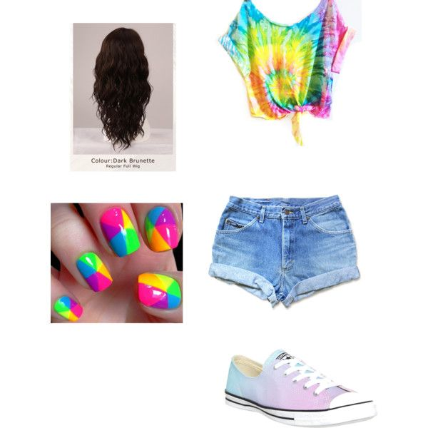 colourful <3 by marisolorozco on Polyvore featuring Converse and WigYouUp
