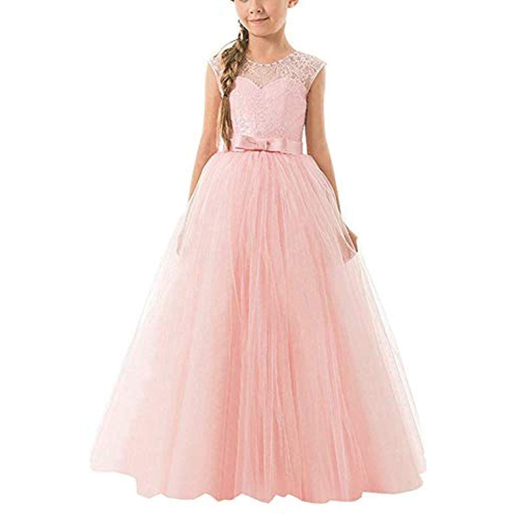 NNJXD Mädchen Kinder Spitze Tüll Hochzeit Kleid Prinzessin Kleider