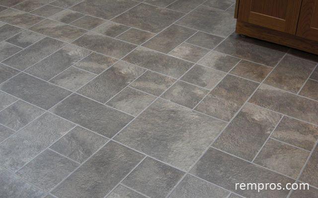 Sheet vinyl flooring floor installation kitchen for Kitchen flooring installation