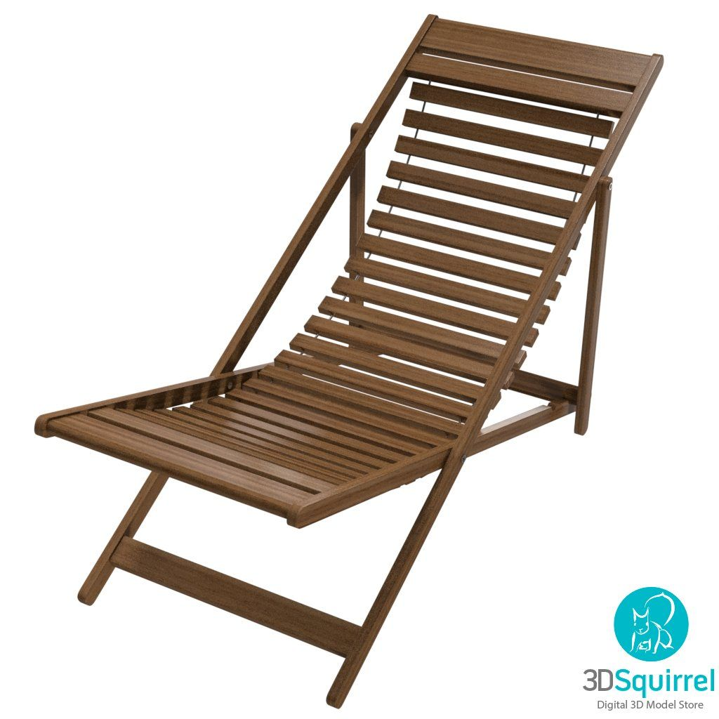 Deck Chair 3D Model obj fbx lxo max lwo dae dxf | 3DSquirrel