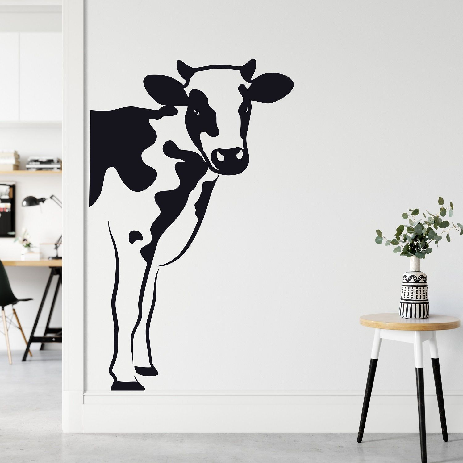 Cow Wall Decor For Kitchen Cow Vinyl Decal Animal Wall Etsy Animal Wall Decals Cow Wall Art Cow Wall Decor