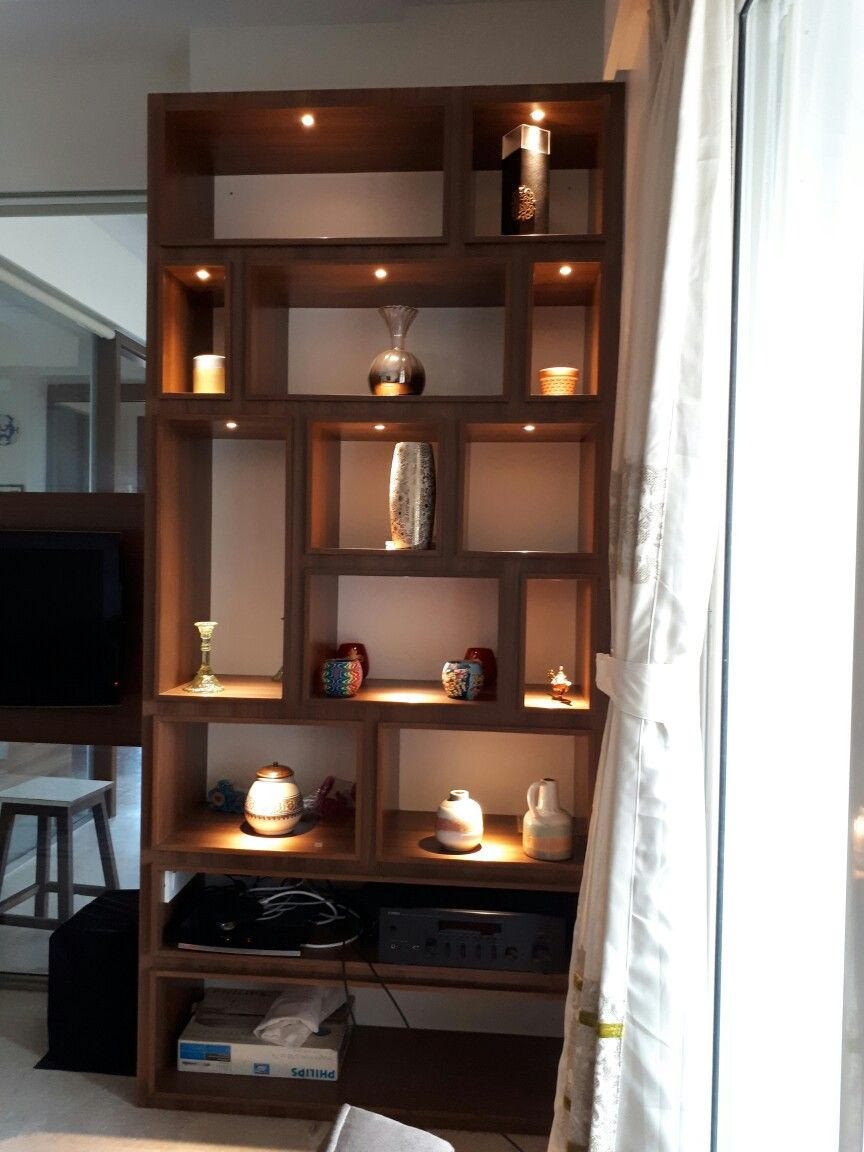Shelves Unit For Books And Artifacts With Tiny Spot Lights Shelves Interior Design Display Shelves