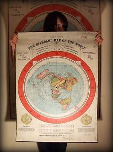 Gleason S New Standard Map Of The World Flat Earth Map 1892 Geo