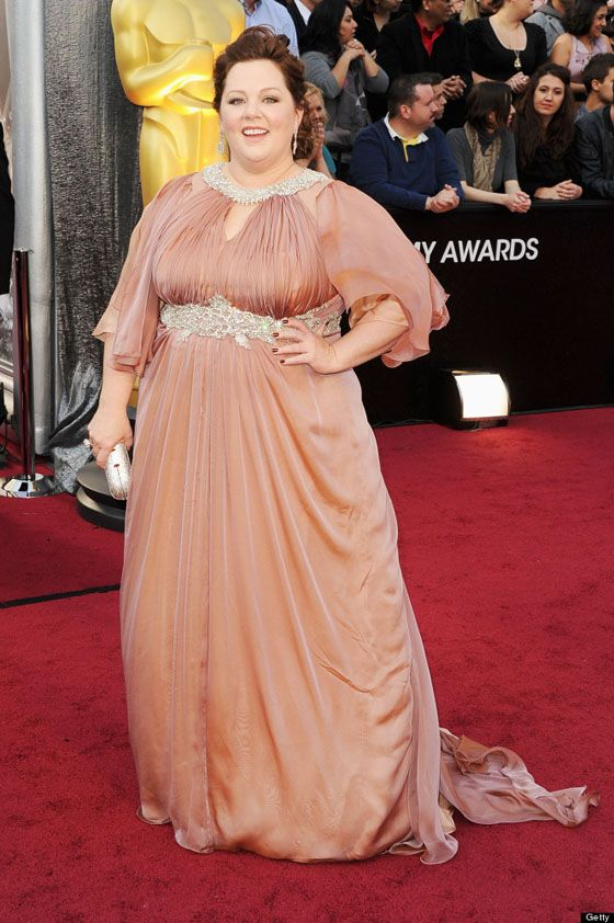Melissa McCarthey in custom Marina Rinaldi....I think I could rock this dress, afford it no, look good in it heck yes :)