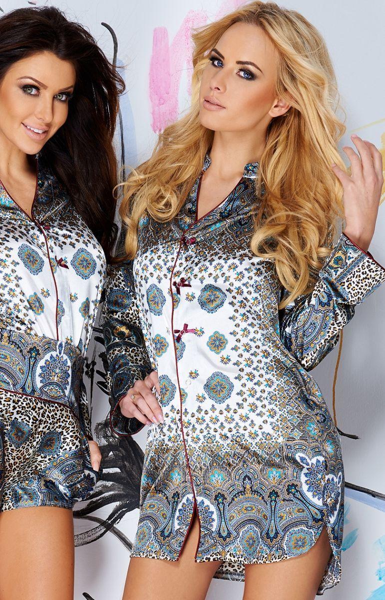 7931e06dc71e74 Pigeon P-453 koszula nocna Ciekawa propozycja dla nietuzinkowych kobiet.  Piękna, satynowa koszulka