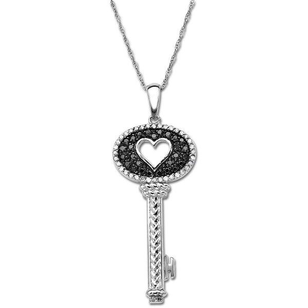Lord taylor key pendant with black diamonds 025 ct tw 220 lord taylor key pendant with black diamonds 025 ct tw 220 mozeypictures Images