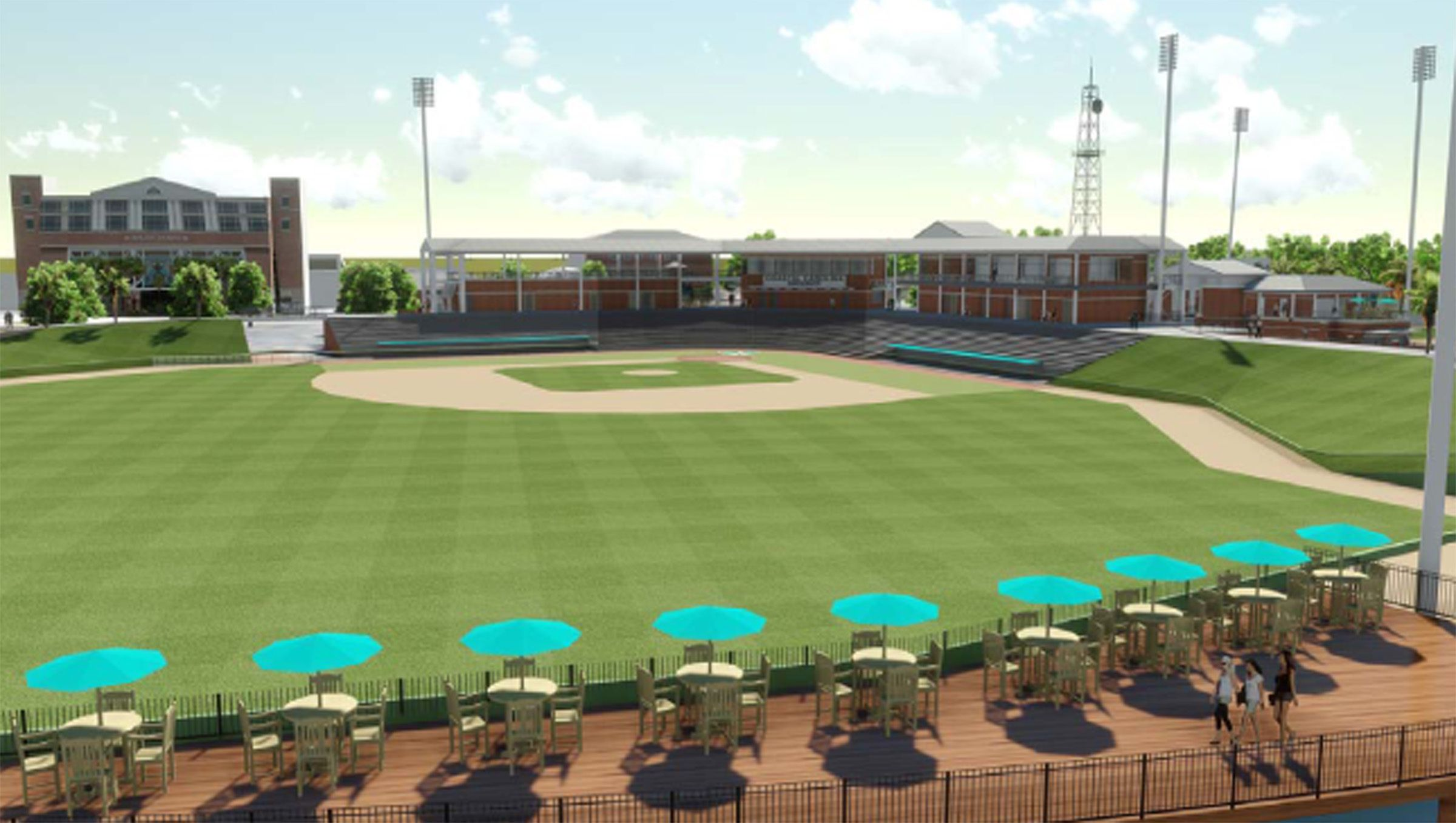 Baseball Stadium Rendering Coastal carolina university