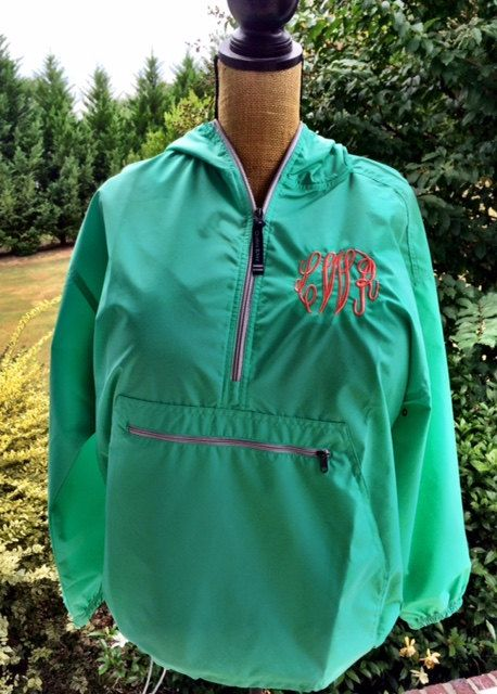 4863cc6ee Monogrammed Rain Jacket-Raincoat Jacket by TheFancyBelles on Etsy ...