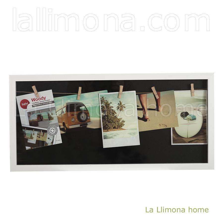 Portafotos multiple vitrine woody pared blanco multi medida 5 fotos ...