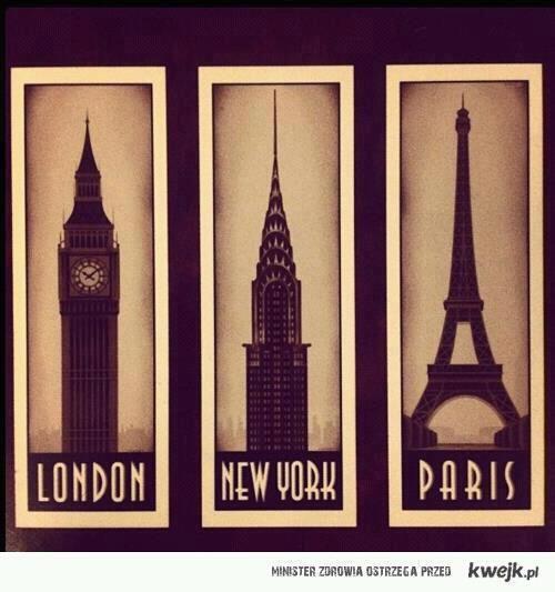 Desejo do dia: Londres, Nova Iorque, Paris ♥