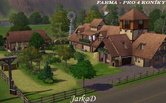 Farma – pro 4 konky Farm for 4 horses
