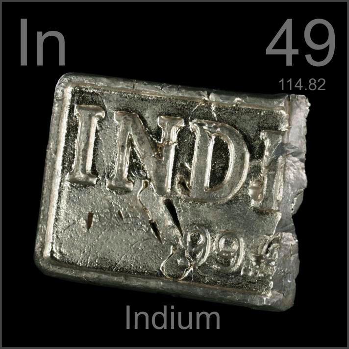 indio elemento quimico 49 in elementos quimicos tabla peridica qumica geologa