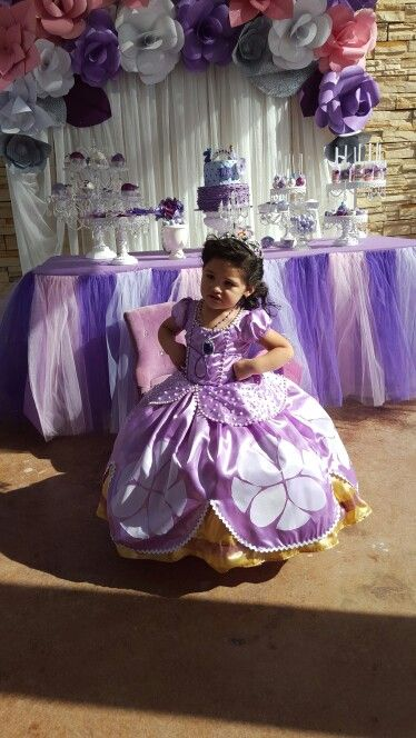 Sofia the first dress mylittleprincess mia 2 birthday - Fiestas de cumpleanos de princesas ...