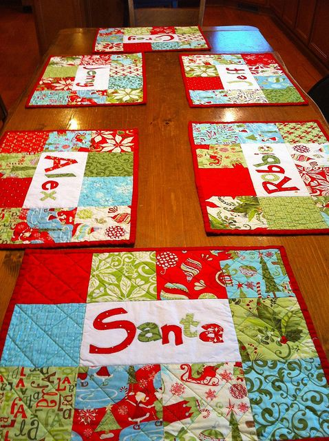 Placemats At Table Christmas Placemats Personalised Placemats Christmas Crafts Diy