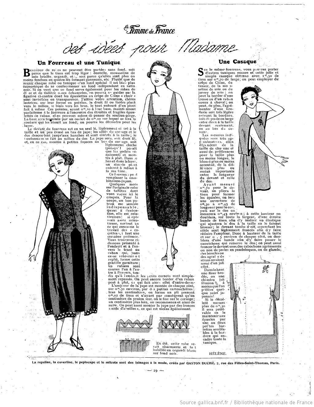 La Femme de France 1921/04/03 | 1920 patterns | Pinterest | Moda ...