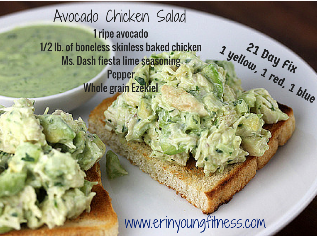 Guys i have been scouring pinterest food gawker and the internet avocado chicken salad recipe erin young fitness lunch doesnt have to be boring mix it up with this yummy avocado chicken salad forumfinder Image collections