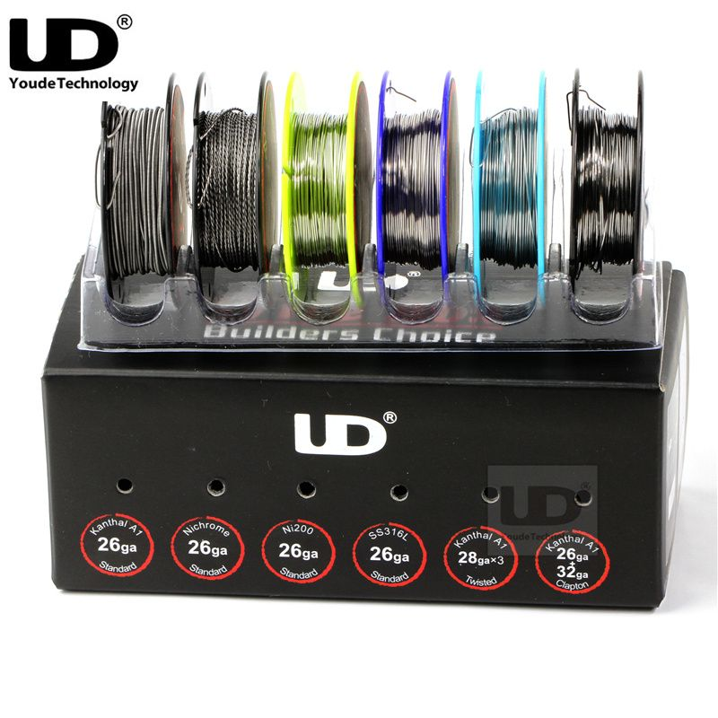 100% Original Youde UD Wire Box with 6 kinds of wires SS316L/Ni200 ...