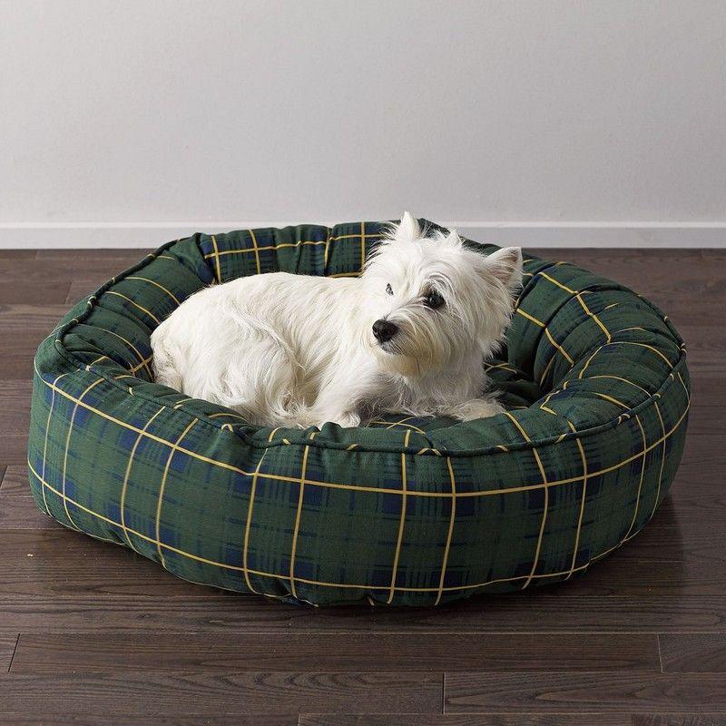 Jordon Plaid Round Dog Bed The Company Store Round Dog Bed Dog Bed Dog Bed Large