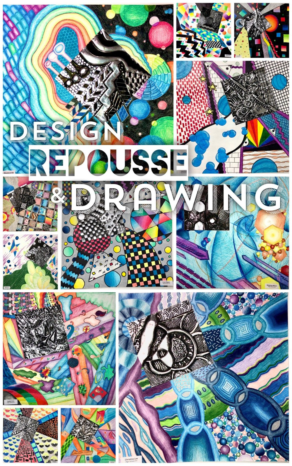 Design principles metal repousse and drawing art lessons