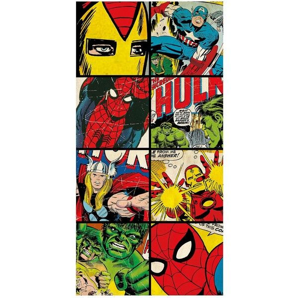 Marvel Beach Towel 82 Brl Liked On Polyvore Featuring Home