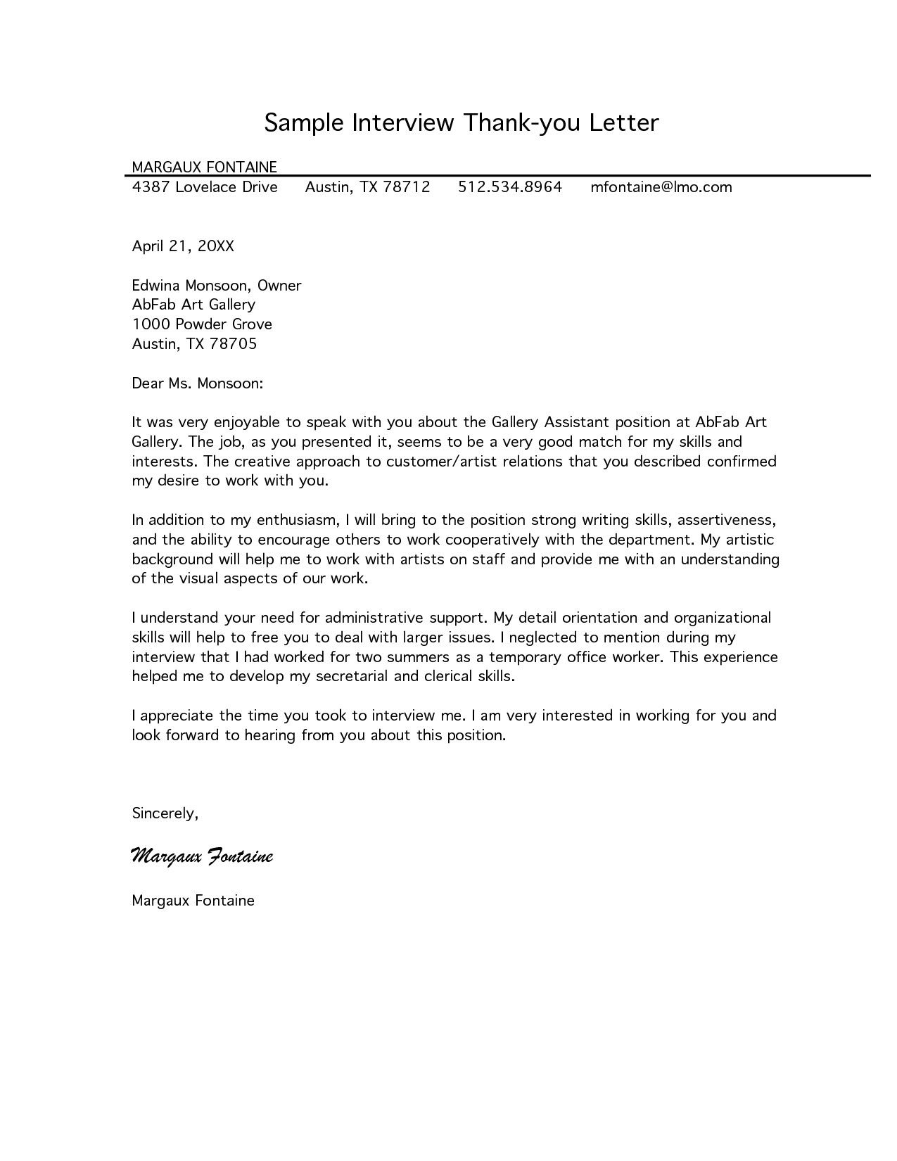 Follow Up Letter For Interview from i.pinimg.com