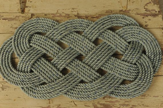 Crab Rope Rug Blue Nautical Decor Outdoor 34