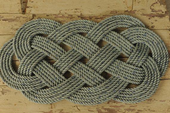 Crab Rope Rug Blue Nautical Decor Outdoor 34
