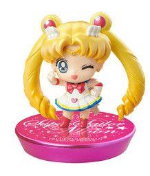 Bishoujo Senshi Sailor Moon S - Super Sailor Moon - Petit Chara! Series - Bishoujo Senshi Sailor Moon Aratashii Nakama to Henshin yo! Hen GLITTER ver. - Petit Chara! Series - Glitter ver, Version B (MegaHouse)
