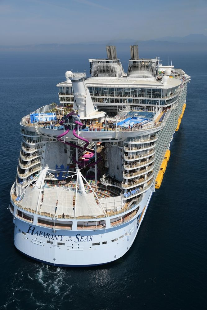 Incredible Aerial Photos Of The Worlds Largest Cruise Ship - Harmony cruise