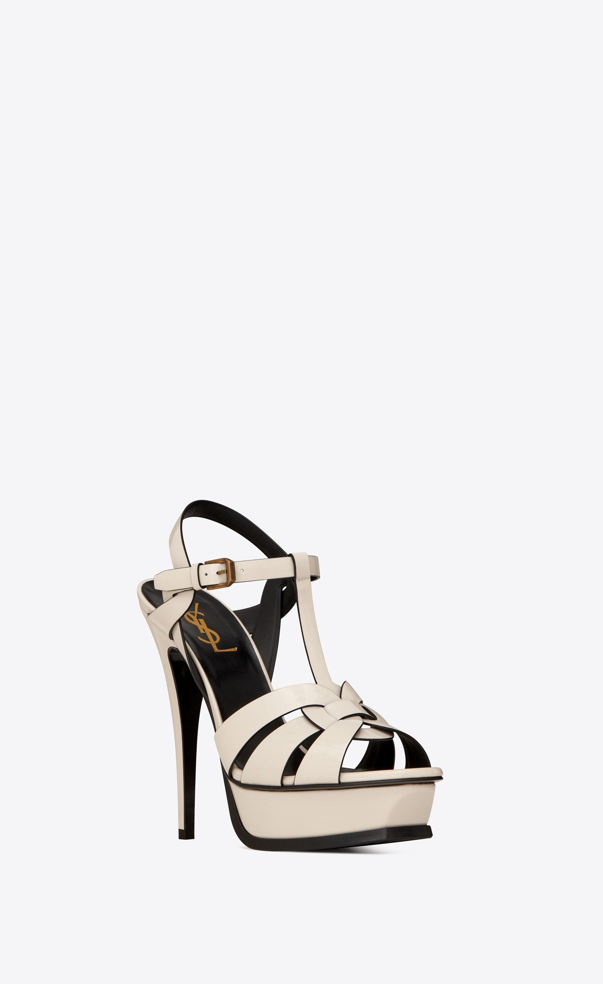 9f7a8152be5d Saint Laurent TRIBUTE Sandals In Patent Leather