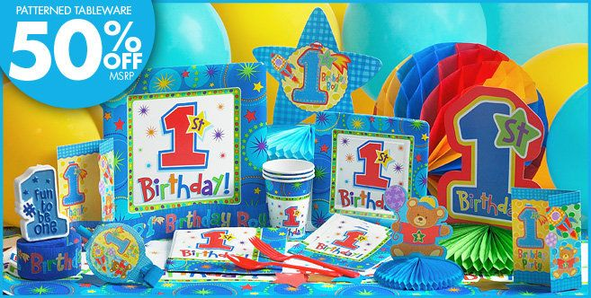 One Derful Boys 1st Birthday Party Supplies