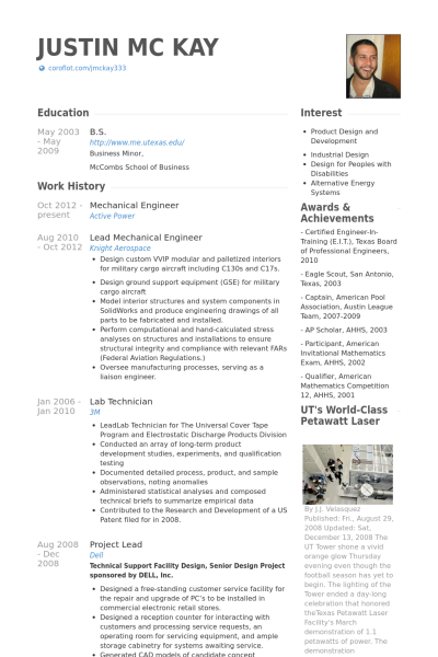 Interest For Resume Resume Examples Mechanical Engineer  Resume Examples No Experience .