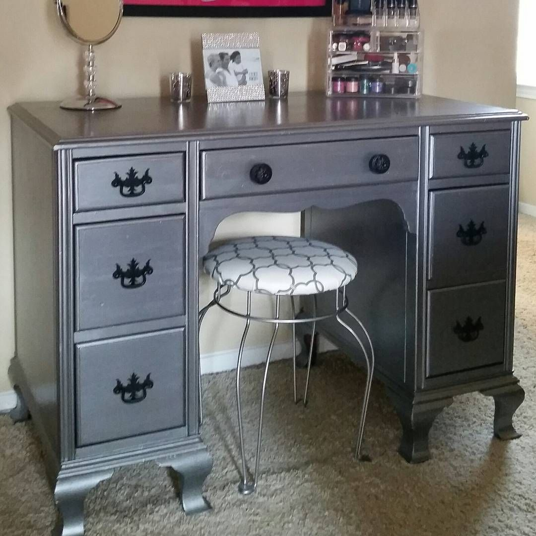 Desk Turned Make-up Vanity By Neat Dreams Design With
