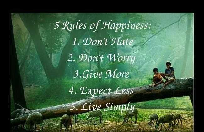 Awesome 5 Rules Of Happiness Inspirational Life Quotes
