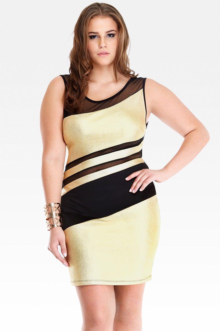Metallic Colorblock Dress Moda Plus Size Pinterest Colorblock