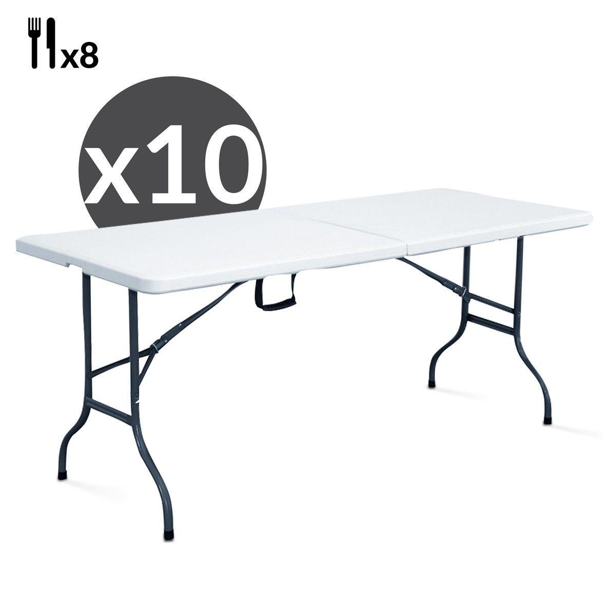 TailleTaille Tables De Pliantes 10 Lot Places 180cm 8 qVpUSzM