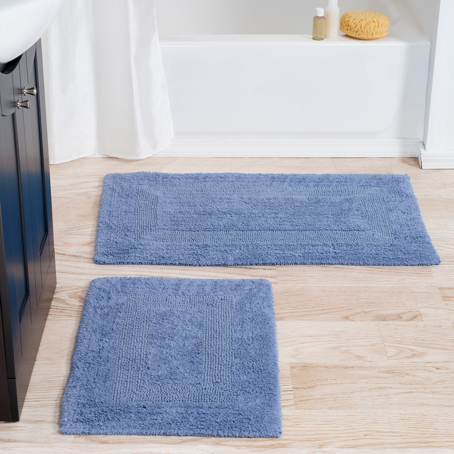 Blue Reversible Bath Rug Set Of 2 | Bath rugs, Bath and Products