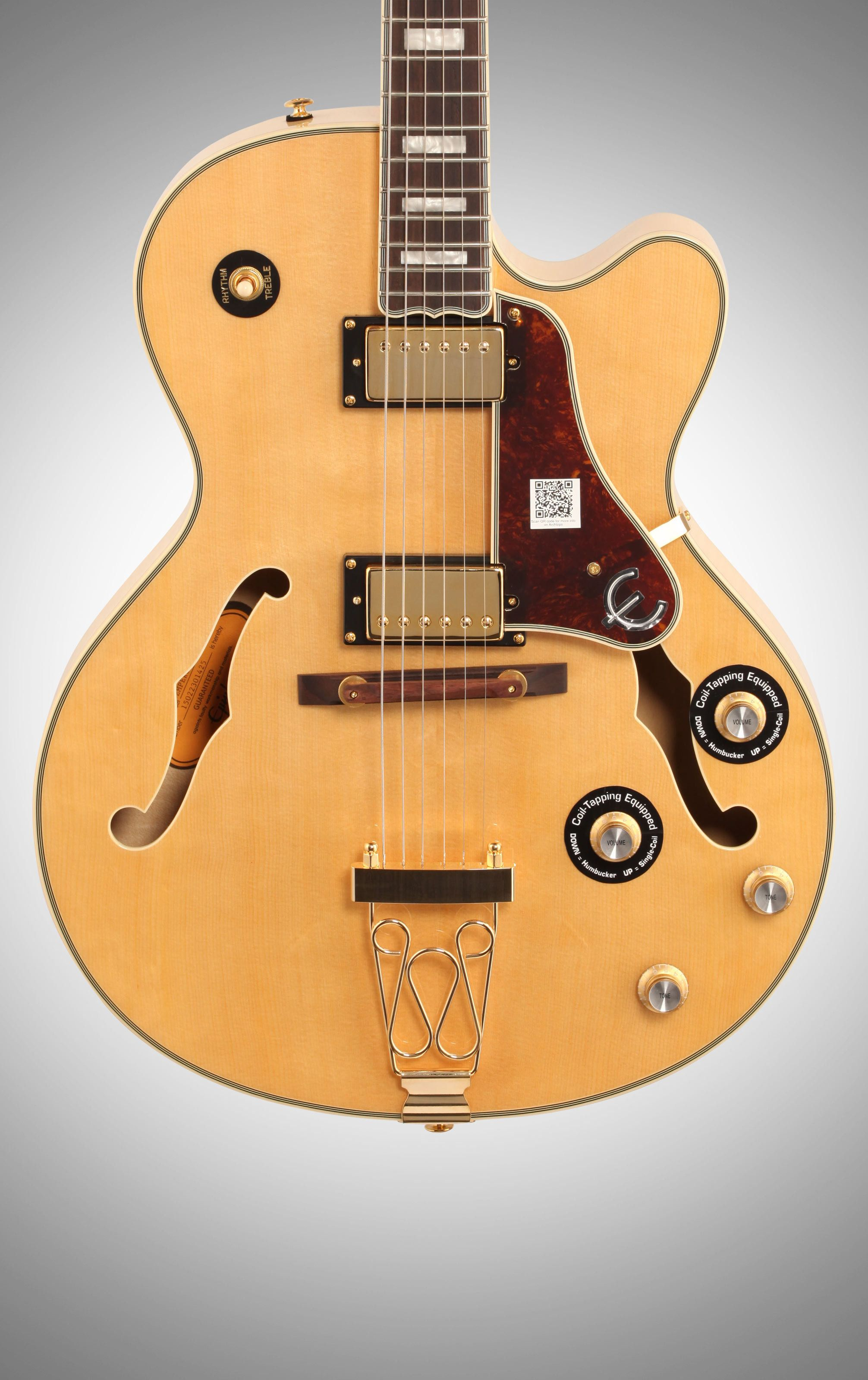 Epiphone Joe Pass Emperor-II PRO Electric Guitar, Vintage