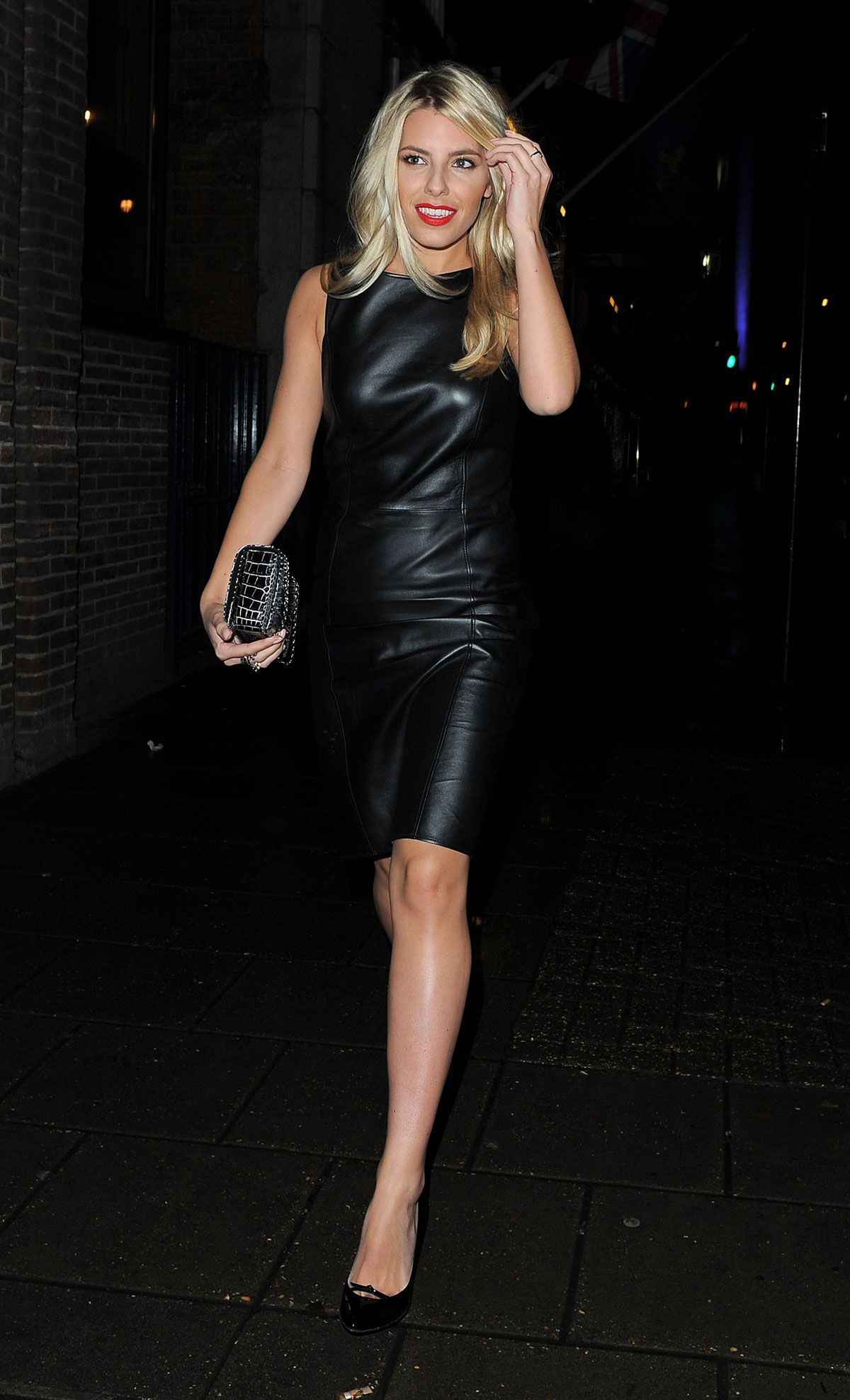 Mollie king leather outflit for celebrities pinterest mollie
