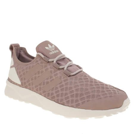 womens adidas blanch purple zx flux verve trainers