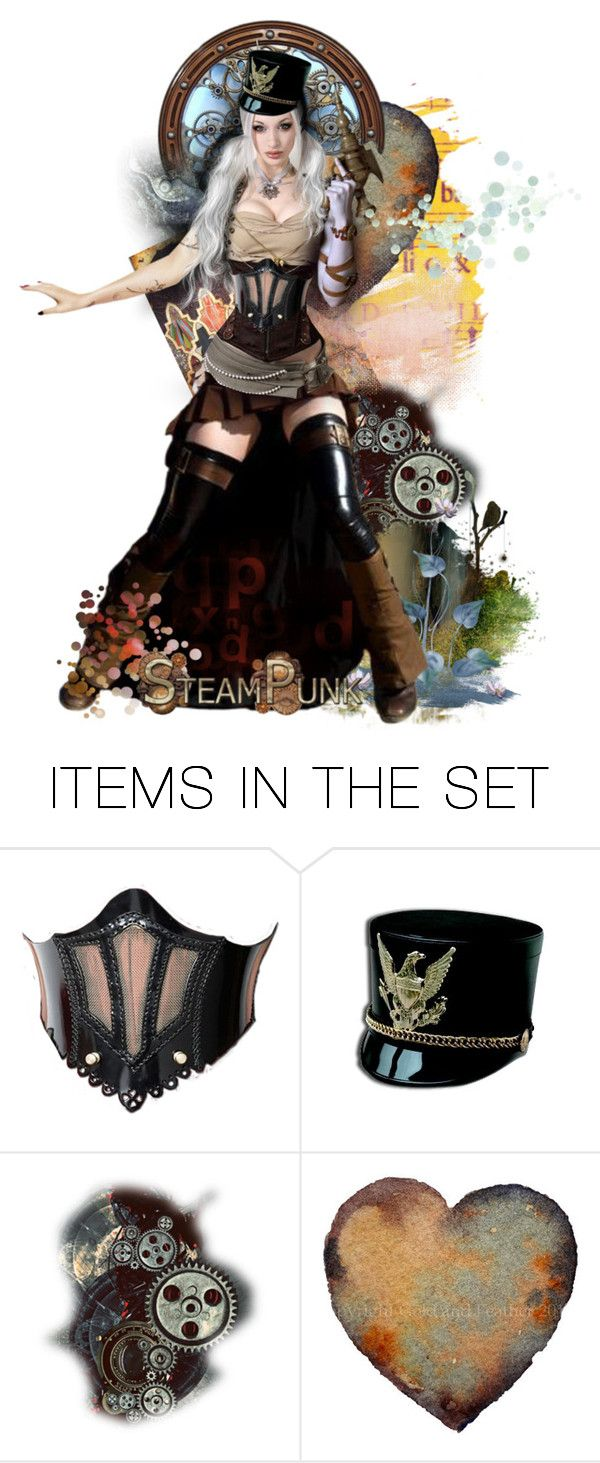 """Steampunk Militia in action"" by matildaaah ❤ liked on Polyvore featuring art"