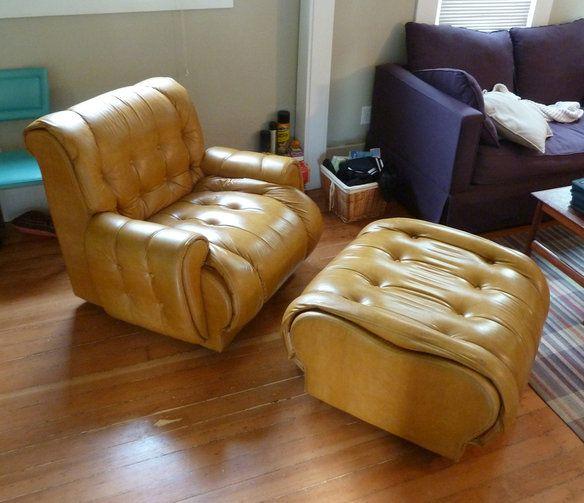 OMG! 70's club chairs & matching ottoman $300 - wake up Portland!!!